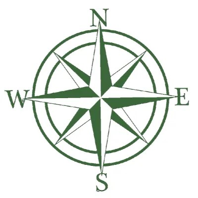 metal sign nautical green
