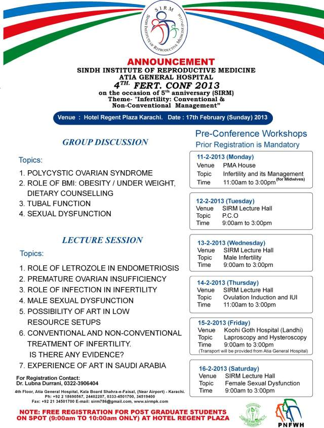 4th Fertility Conference Feb 2013 Poster