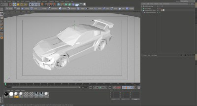 screen_shot of low poly mustang. Model was downloaded.
