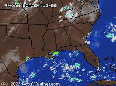 Accuweather composite Satellite & Radar SOUTHEAST USA; click to go there