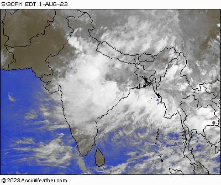 Indian Ocean Region Satellite Map