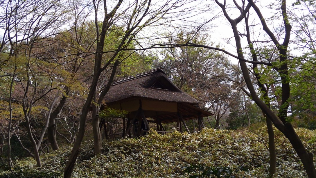 六義園_つつじ茶屋遠景
