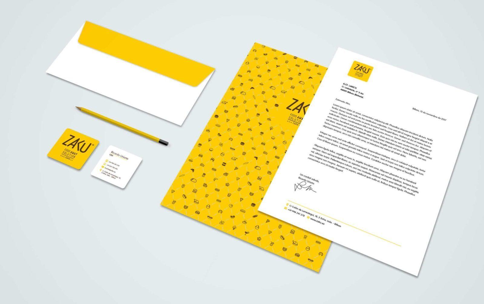diseño de papelería y material corporativo