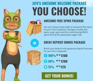 casinojefe casino bonus casinojefe free spins wager free