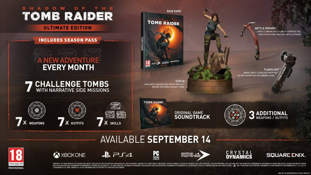 Shadow of the Tomb Raider special editions