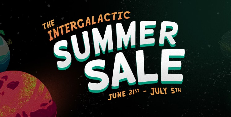 The Intergalactic Summer Sale logo