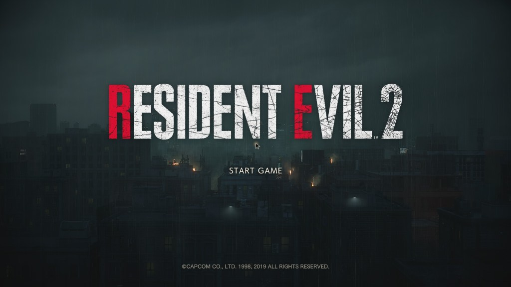Resident Evil 2 Remake Review Opening Screen