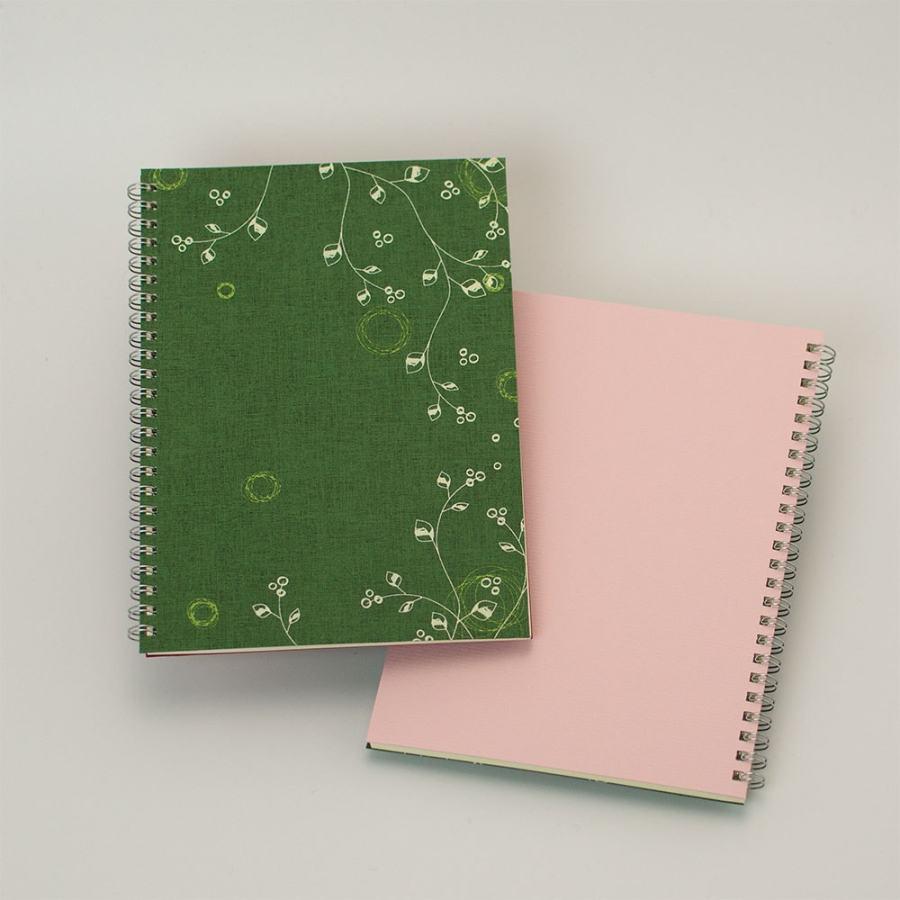 オープン記念ノート「evergreen」<br>背表紙「ピンク」