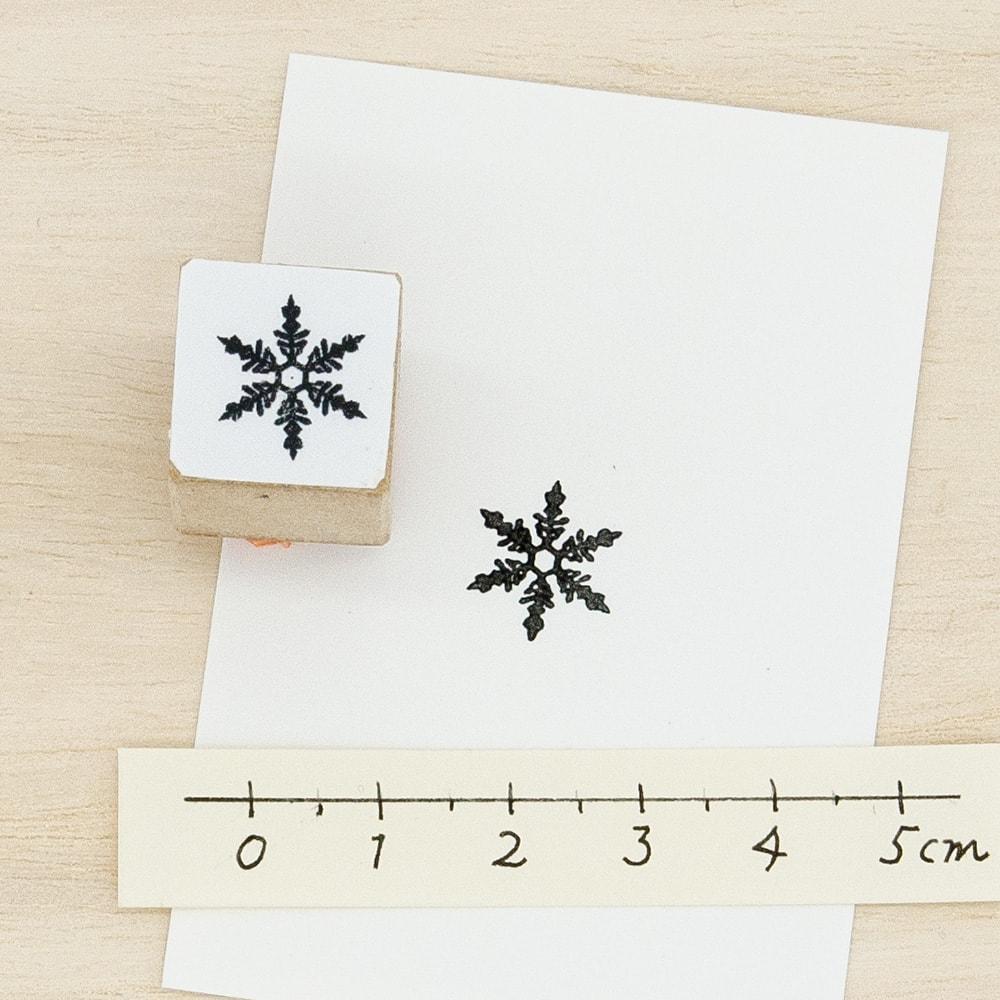スタンプ<br>雪の結晶イメージ1
