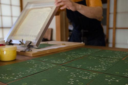 リングノート 手仕事 シルク印刷
