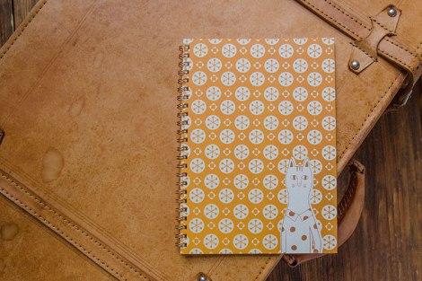 こだわりのリングノート。私だけのオリジナルデザインノート。ねこのイメージ。