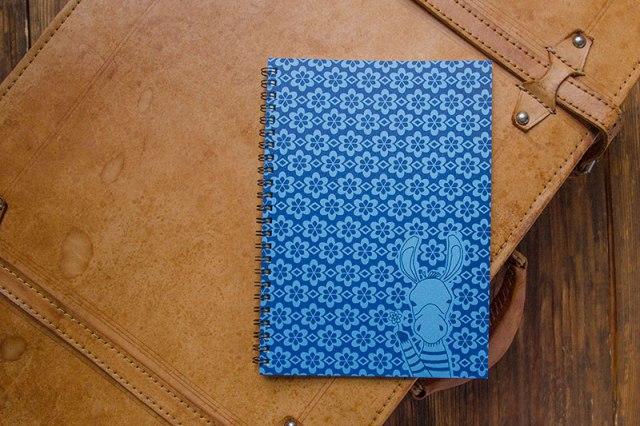 こだわりのリングノート。私だけのオリジナルデザインノート。ロバのイメージ。