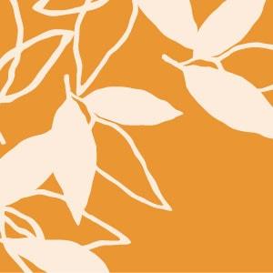 「葉模様×橙色」を選ぶ