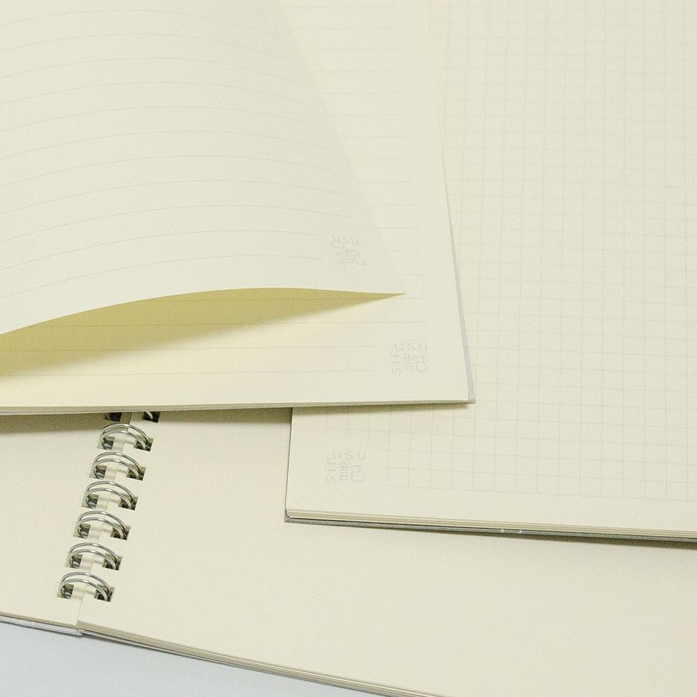 オーダーノート(A5)<br>葉模様×紺色イメージ6