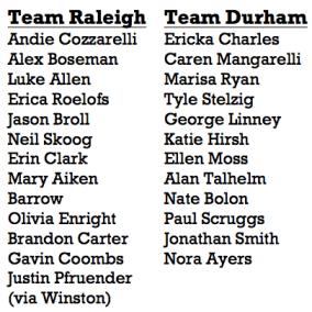 Team Raleigh vs Durham