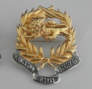 Kings Own Border Regiment Pendant/ Broach Gold Plated Lion