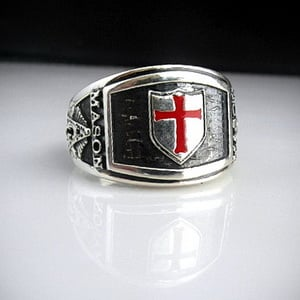 Knights Templar Cigar Band Masonic Ring