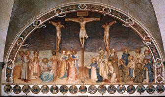 図1.ベアト・アンジェリコ《十字架降下のキリストと聖人たち》全体図 web gallery of art