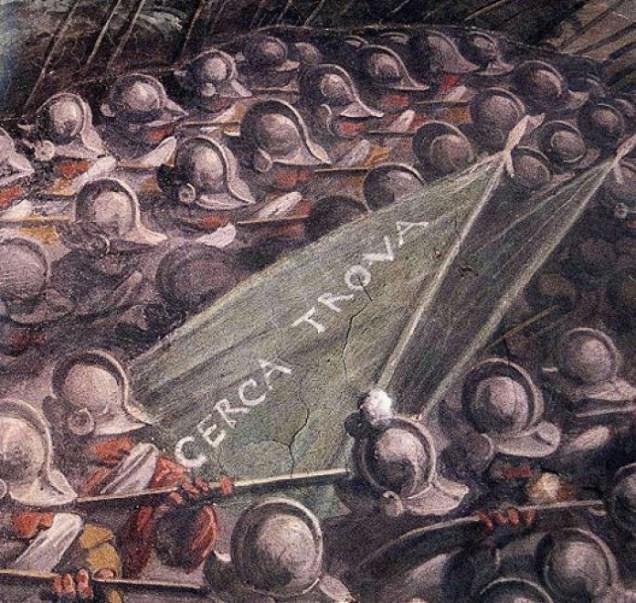 図5 ジョルジョ・ヴァザーリ《最後の晩餐》部分/国立貴石修復研究所アーカイヴ