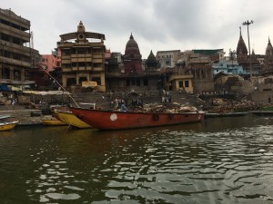 The Manikarnika Ghat, a burning ghat