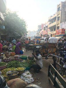 Wandering around a local market