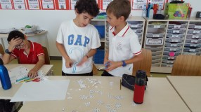 We did jigsaw puzzles with a 100 grid.