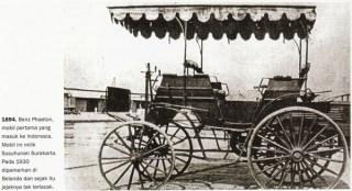 1894. Benz Phaeton, mobil pertama yang masuk ke Indonesia. Mobil ini milik Susuhunan Surakarta.