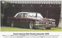 Mobil eks Bung Karno lainnya, Crown Imperial Ghia Parade Limousine 1959. Kini mobil tersebut merupakan salah satu koleksi Pak Hauwke.