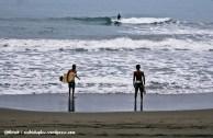5.00 pm. Surfing.