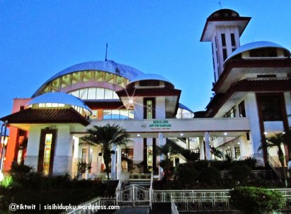 Masjid Atta'awun kala pagi segera tiba...