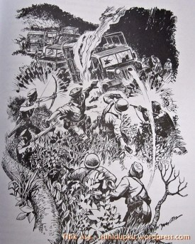 Ilustrasi palagan perjuangan Bojongkokosan.