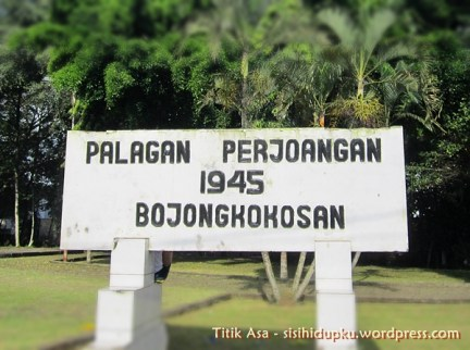 Plang Palagan Perjuangan 1945 Bojongkokosan.