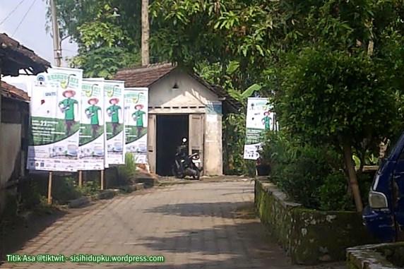 Jalan desa wisata Brayut.