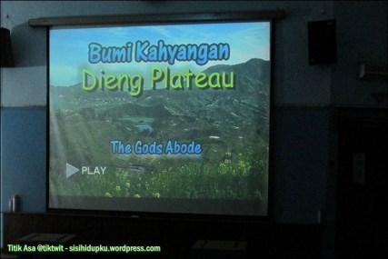 Film dokumenter di Dieng Plateau Theatre