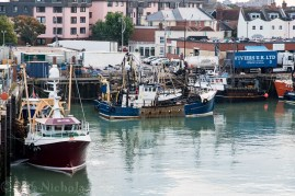 Portsmouth Fishing Fleet with Viviers in the background