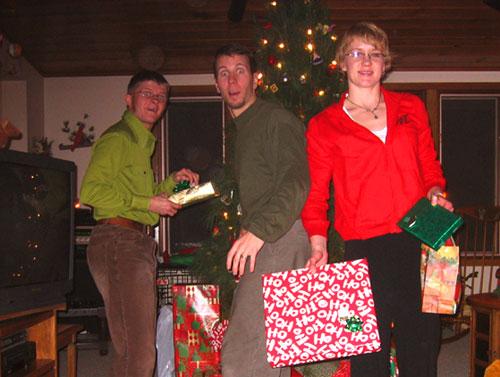 Dane, Tyler and Greta at Christmas