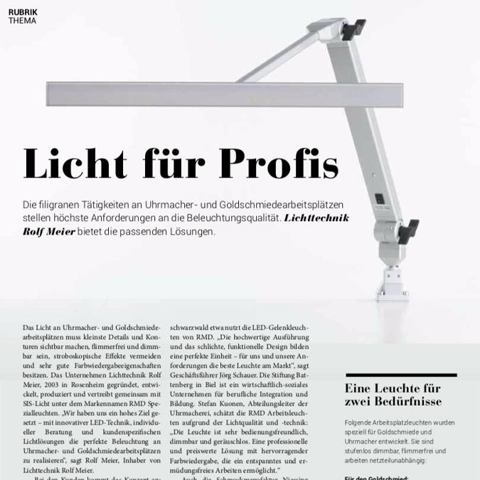 GZ Goldschmiedezeitschrift Lichttechnik Rolf Meier