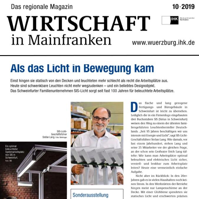 SIS-Licht - Wirtschaft in Mainfranken - Als das Licht in Bewegung kam