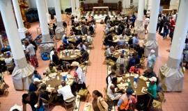 Kirkerne i New York bruges flere steder til bespisning af fattige og hjemløse