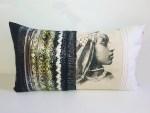 Coussin Laila Vert et Argenté - collection berbère - sissimorocco