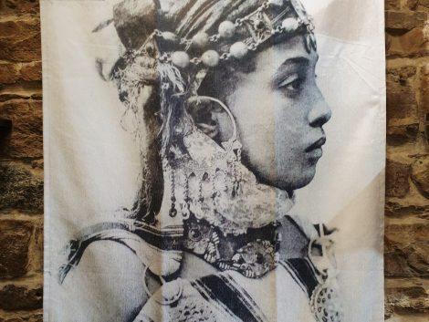 Tentures Murale Rachida Noir et Blanc