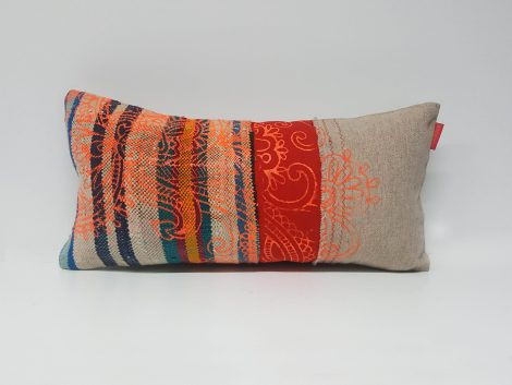 Housse Coussin Mini Patch Rayure