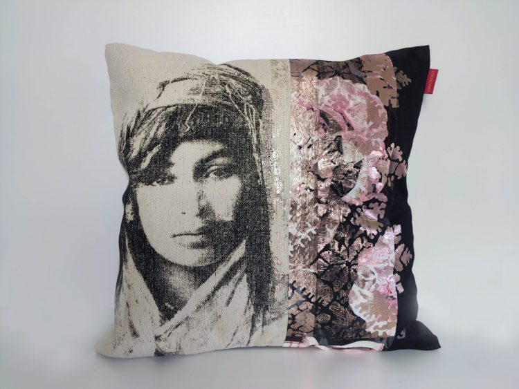 Coussin Amaia Rose Cuivre - collection berbère - sissimorocco