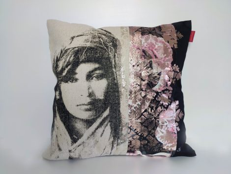 Coussin Amaia Rose Cuivre – collection berbère – sissimorocco
