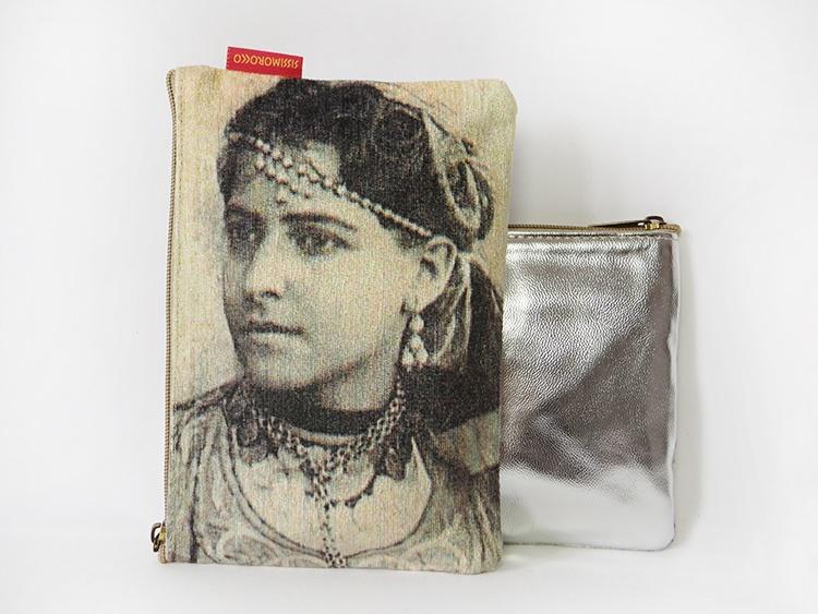 pochette-pour-femme-berbere-sourire-visage-argent-