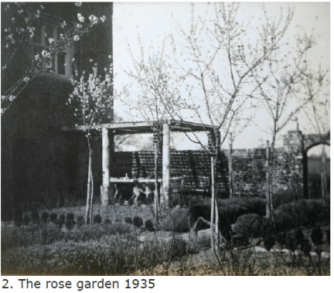 The almond trees in the rose garden in 1935