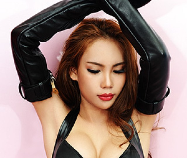 Leather Bondage Opera Gloves