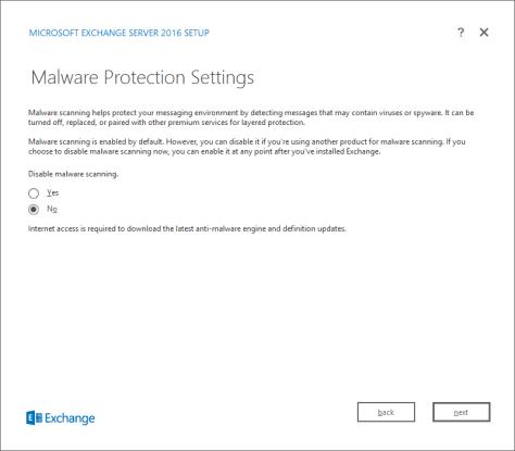 Malware Protection Settings