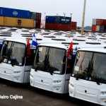 Llega nueva flota de 150 buses procedentes de Rusia