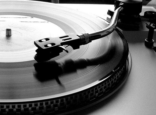Vinilo en un toca discos